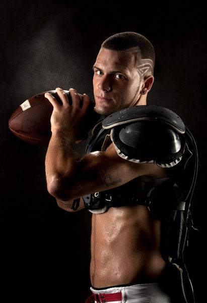 Jesse Hevia, 17, a senior, who plays quarterback for Pinellas Park High School.