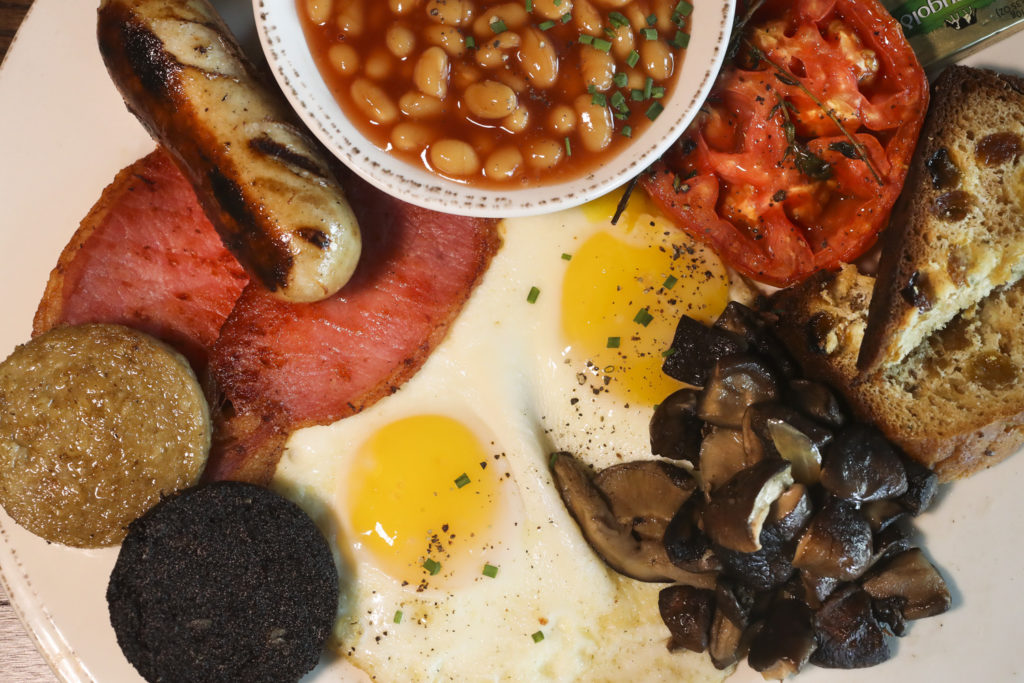 All-Day Irish Breakfast, bangers, rashers, black & white pudding served with roasted tomato & mushroom, baked beans, two eggs and Irish soda bread, at Strandhill Public, 10288 Causeway Blvd., Wednesday, Oct. 30, 2019 in Tampa.
