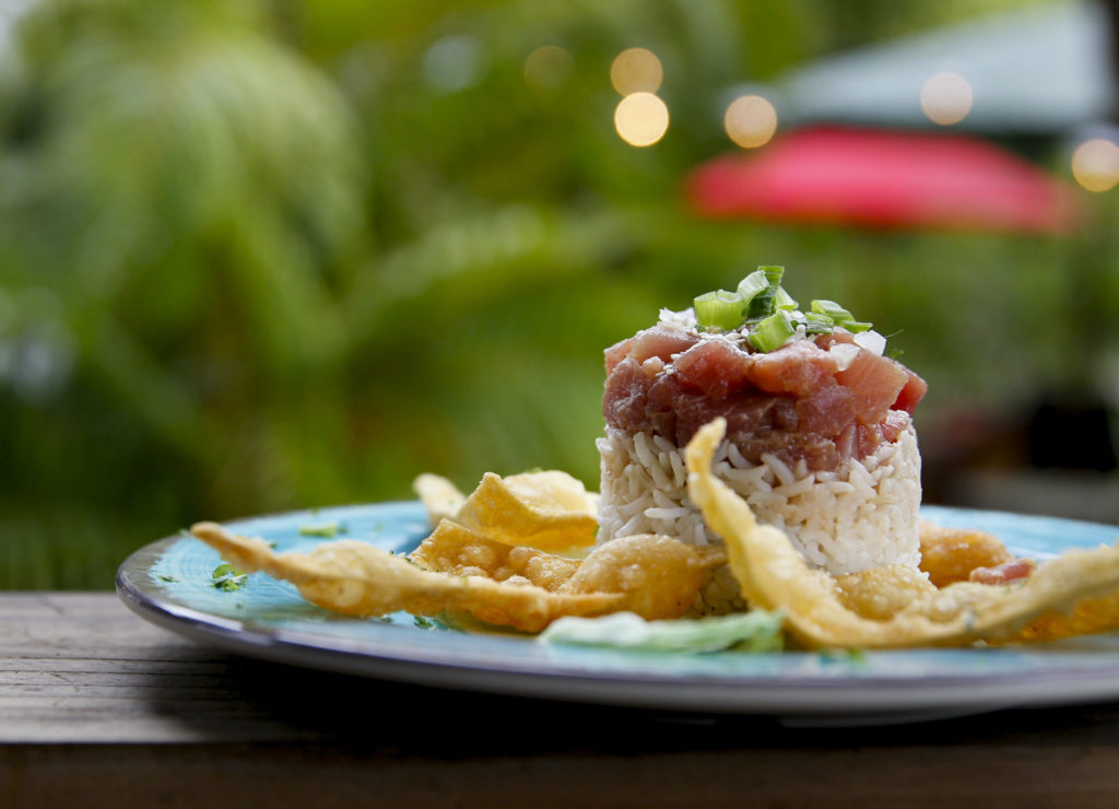 DIRK SHADD   |   Times   Fish Bar and Grille at 3038 Beach Blvd. in Gulfport, Wednesday afternoon (05/04/16). FISH Bar and Grille is located in the 1930s bungalow formerly known as Peg's Cantina and Brew Pub. Pictured is ahi poke.