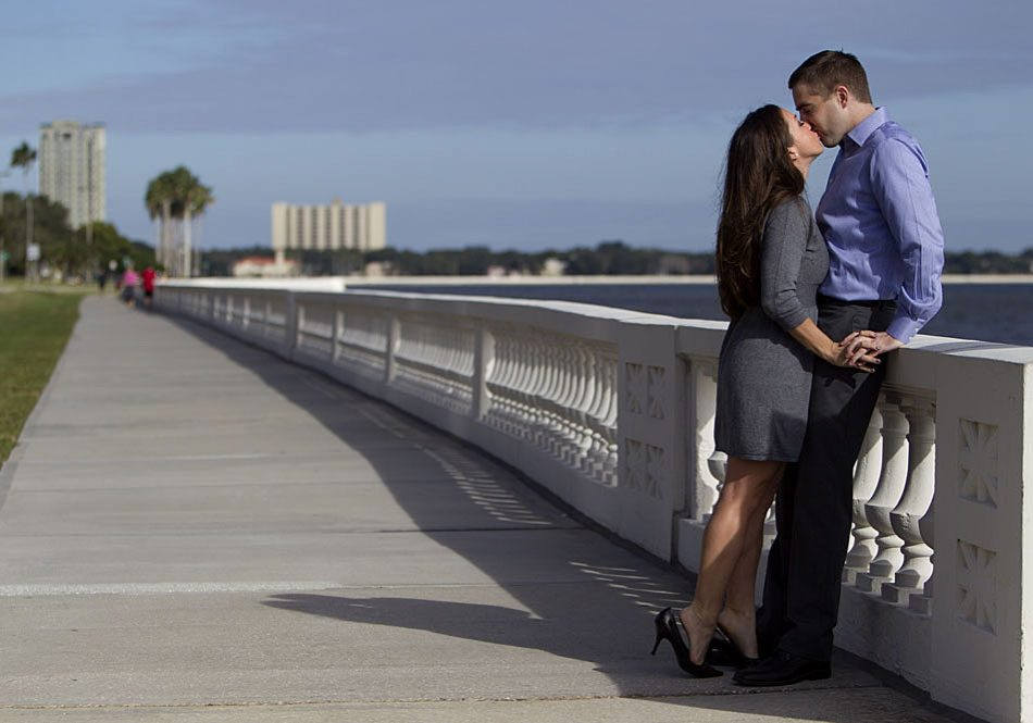 Tampa Bayshore Dr Engagement Chris and Ellyn Kamke